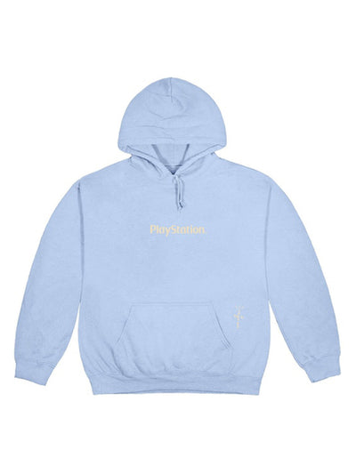 Travis Scott Motherboard I Hoodie Light Blue - Prior