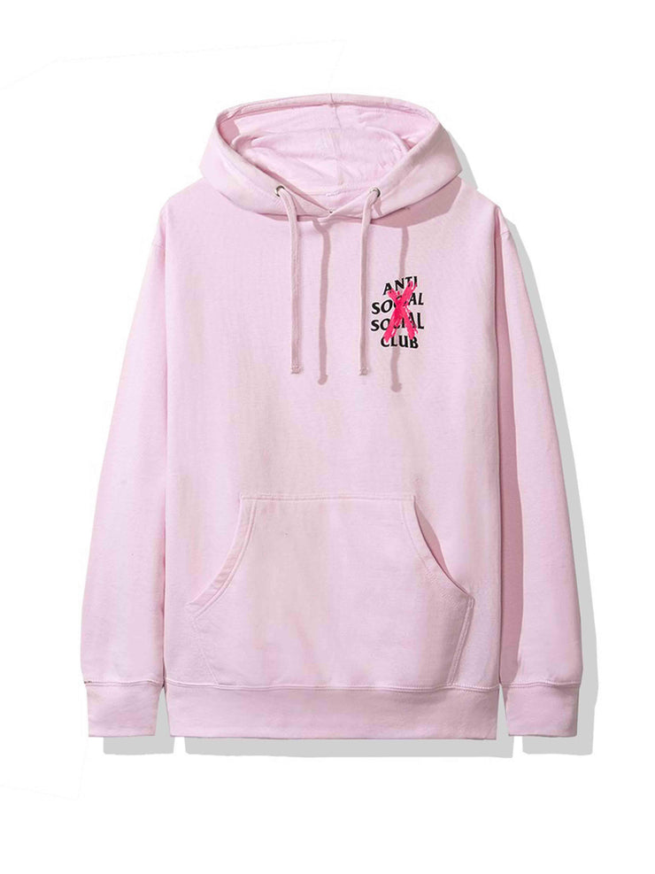 Anti Social Social Club Cancelled Hoodie Pink - PRIOR
