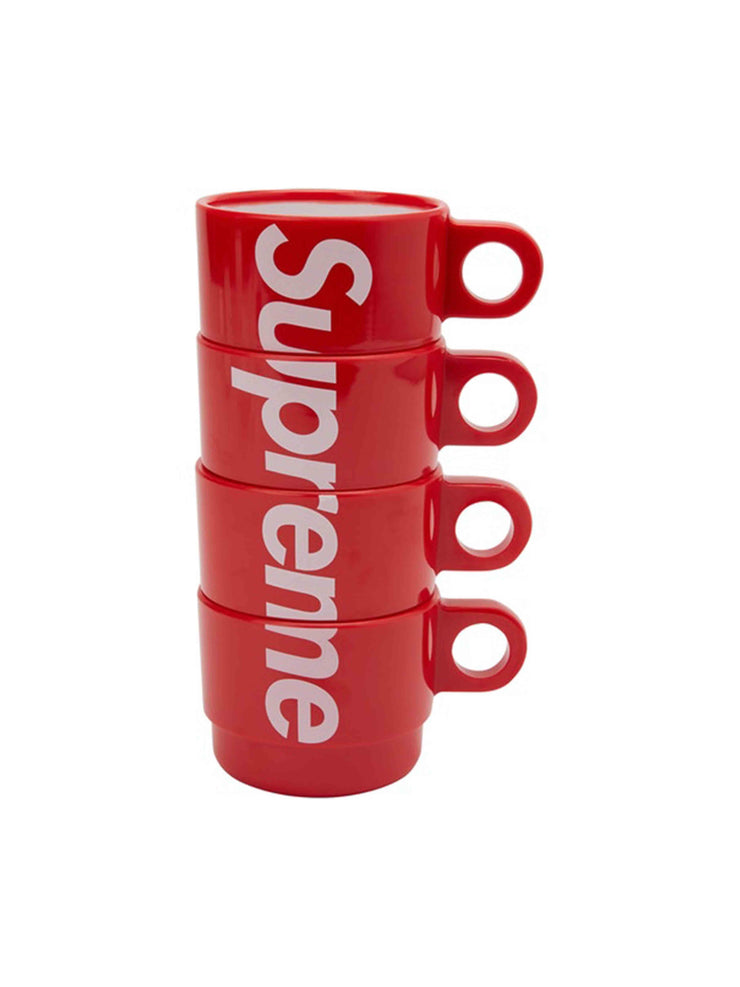 Supreme Stacking Cups (Set of 4) Red [SS18] - PRIOR