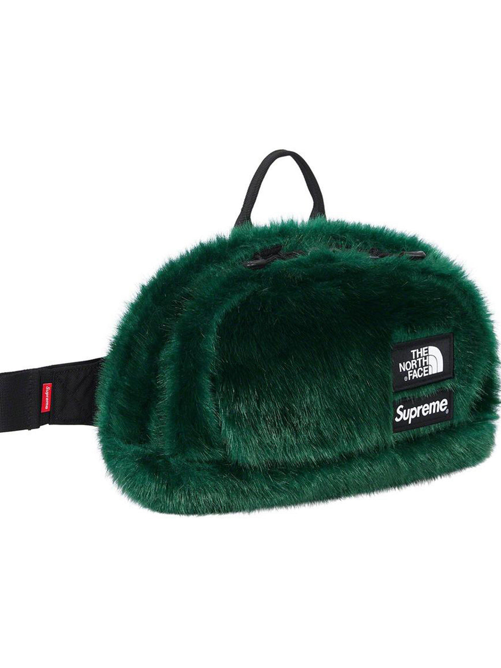 Supreme X The North Face Faux Fur Waist Bag Green - Prior