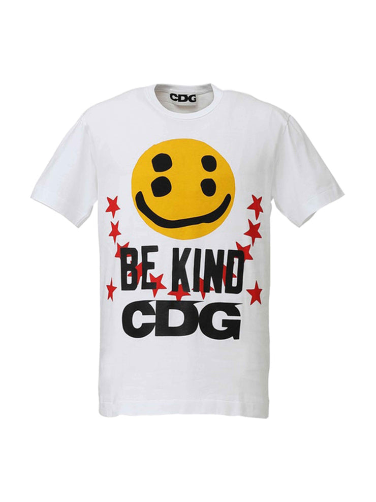 CPFM X CDG Smiley Face Be Kind Tee White - PRIOR