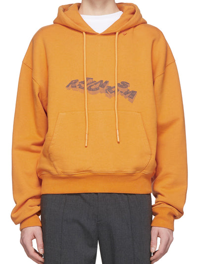 OFF-WHITE 3D Pencil Over Hoodie Orange - PRIOR