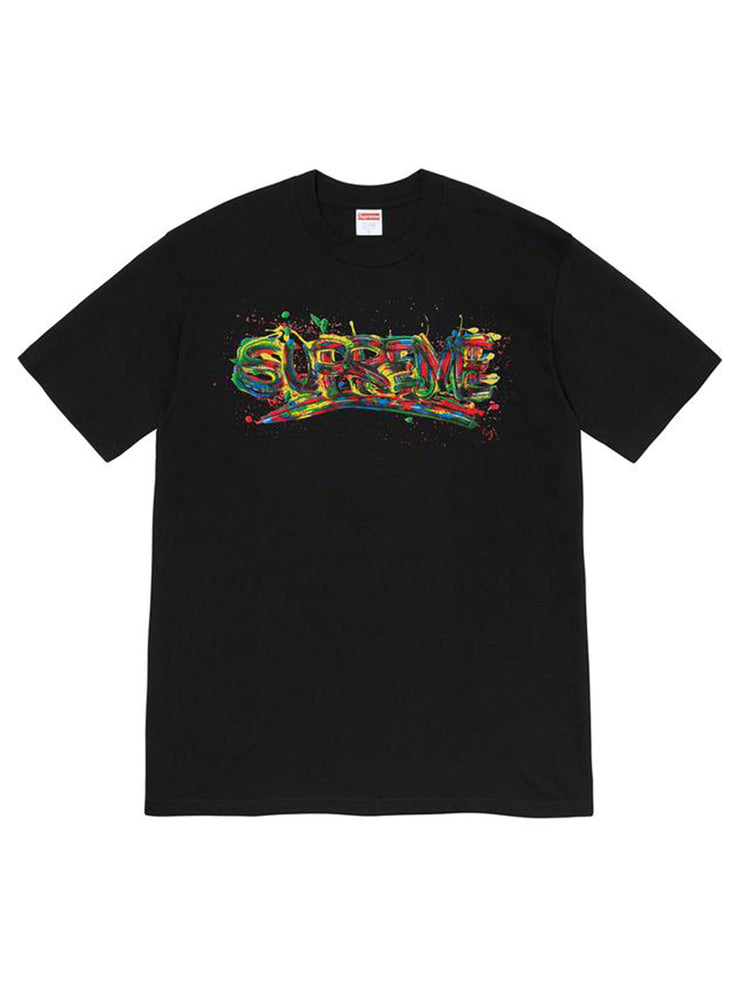 Supreme Paint Logo Tee Black [SS20] - PRIOR