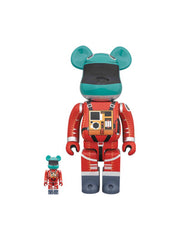Medicom Toy BE@RBRICK Space Suit Green Helmet & Orange Suit 100% & 400% - PRIOR
