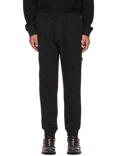 Stone Island Fleece Lounge Pants Black - PRIOR