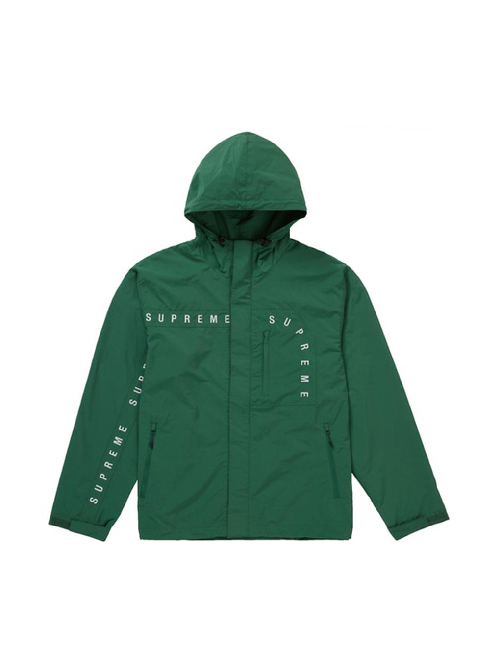 Supreme Curve Logos Ripstop Jacket Olive [FW20] - PRIOR