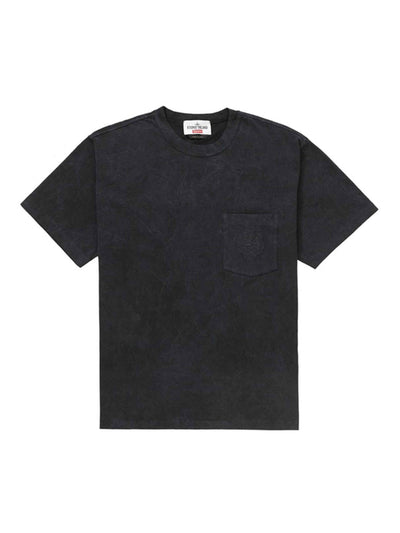 Supreme X Stone Island Pocket Tee Black [SS19] - PRIOR