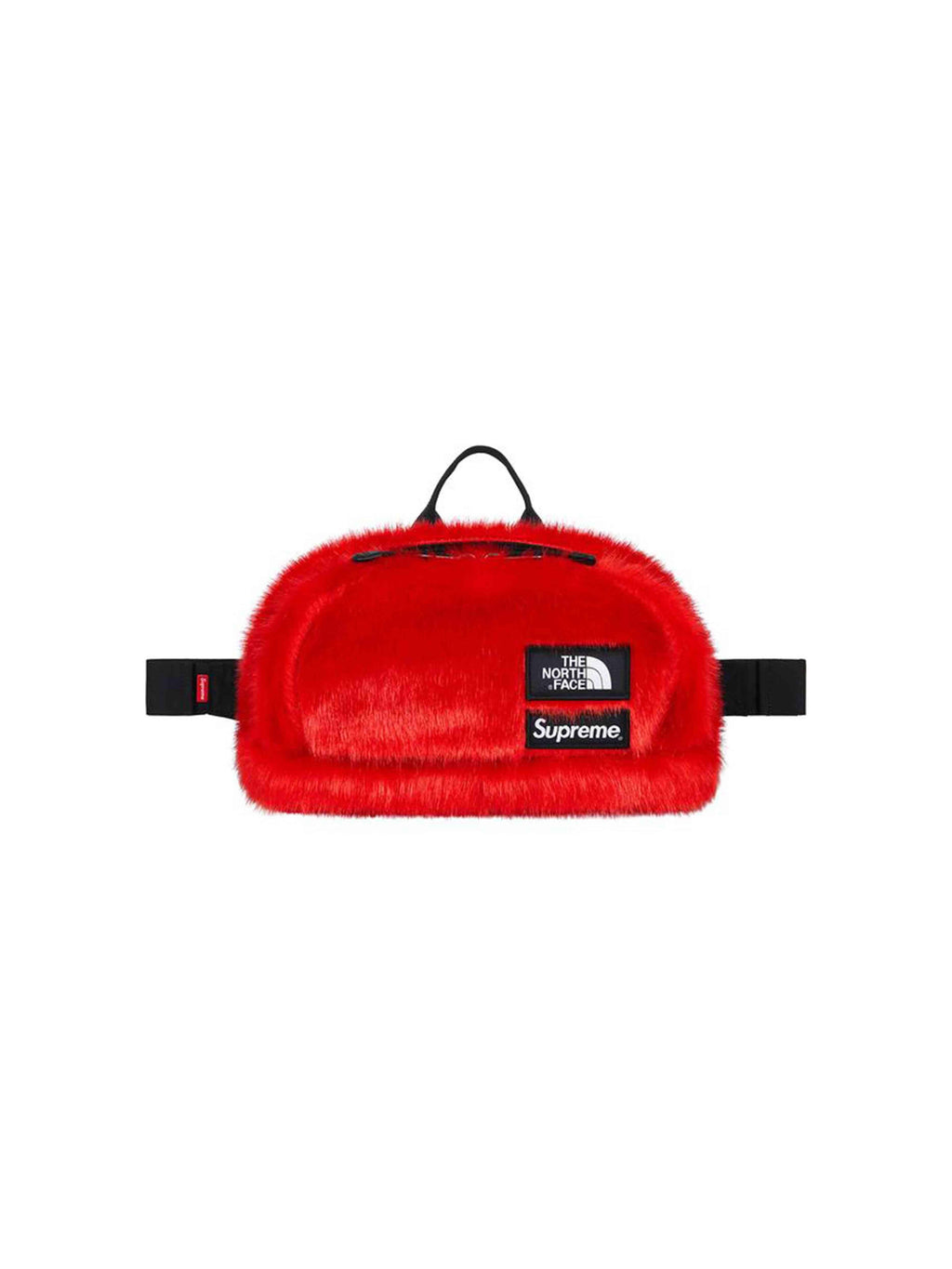Supreme X The North Face Faux Fur Waist Bag Red - PRIOR