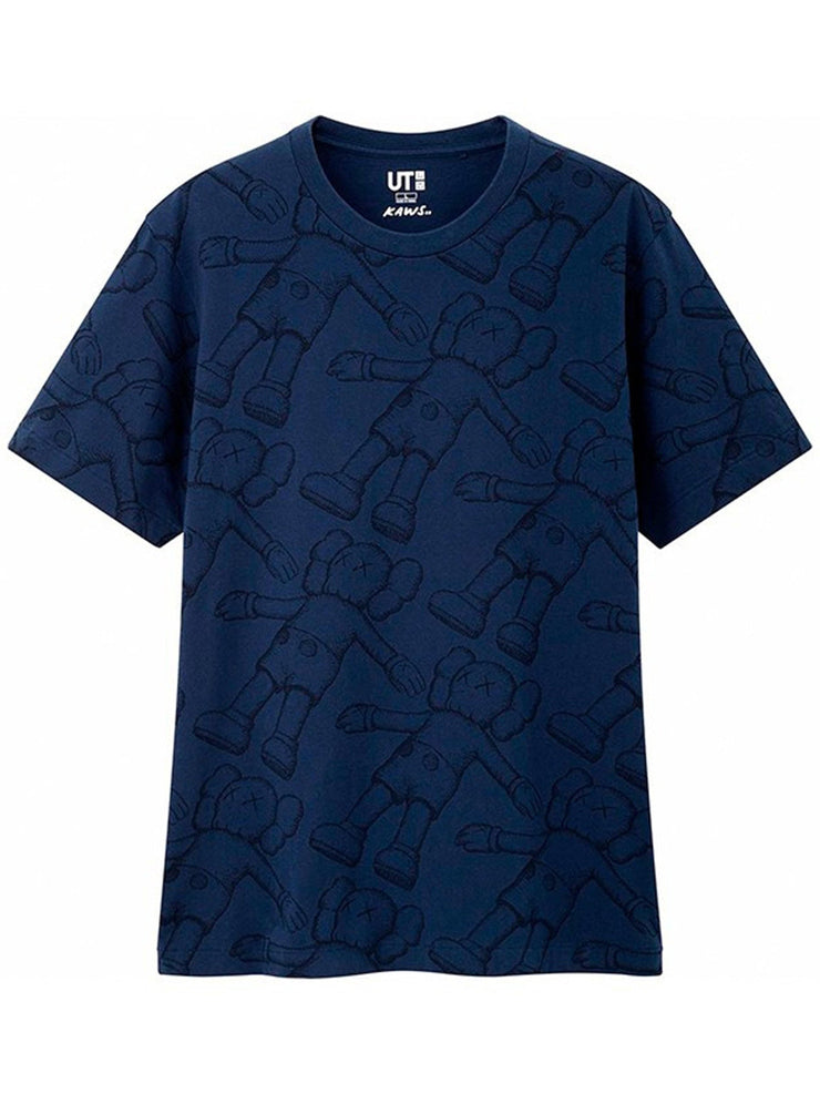 KAWS x Uniqlo All Over Holiday Print Tee (US Sizing) Blue
