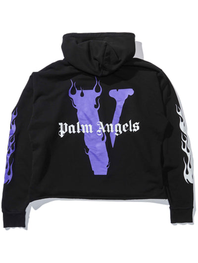 Vlone Palm Angels Hoodie Black/Purple - Prior