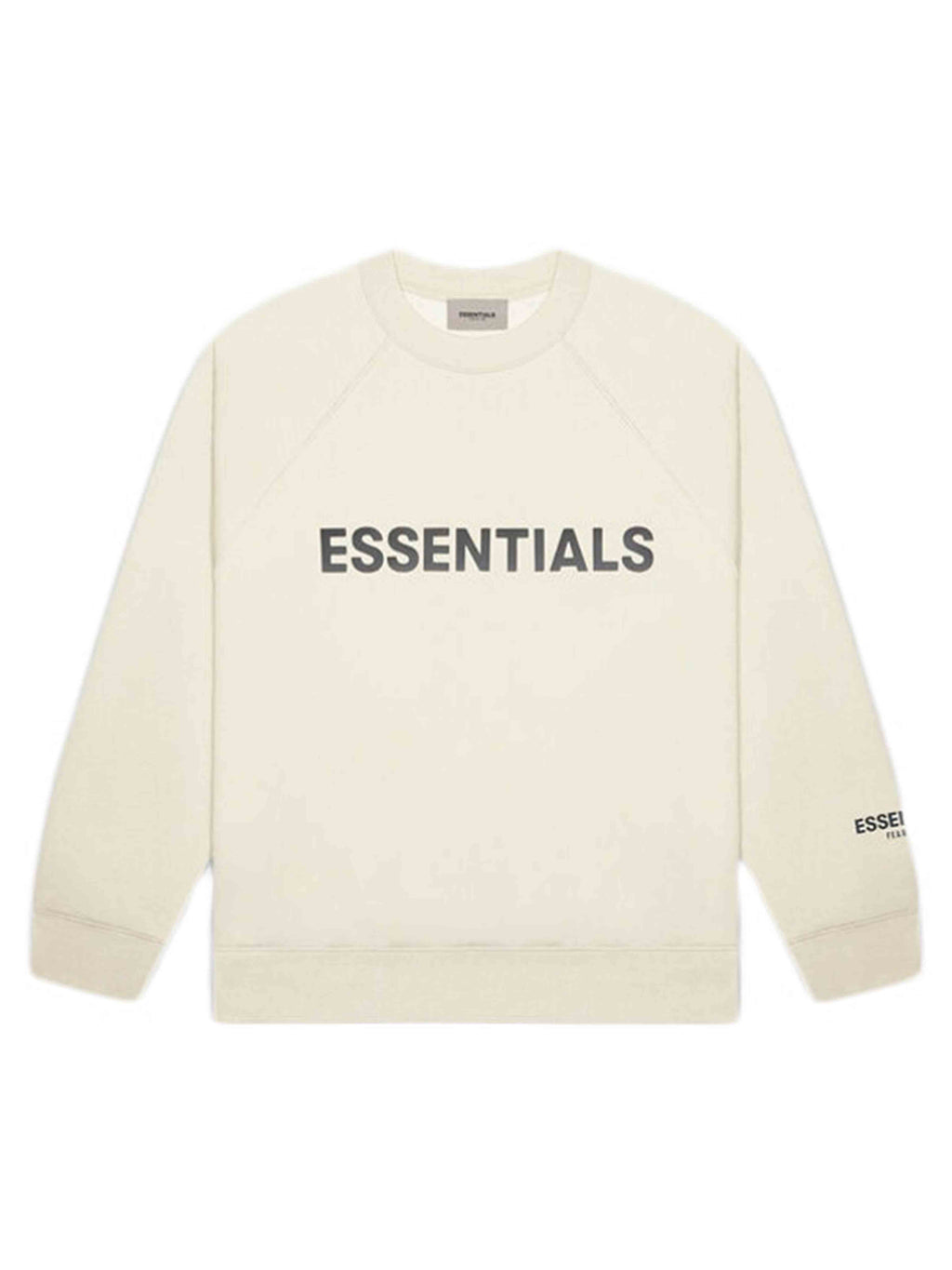 FOG ESSENTIALS 3D Silicon Applique Crewneck Buttercream