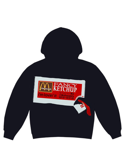 Travis Scott x CPFM 4 CJ Ketchup Hoodie Black - Prior