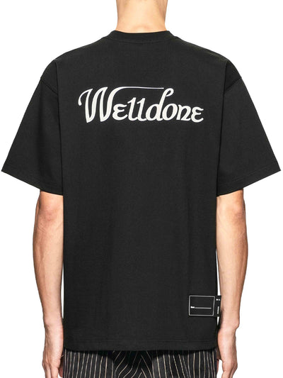 We11done Black Reflective Logo Tee - Prior