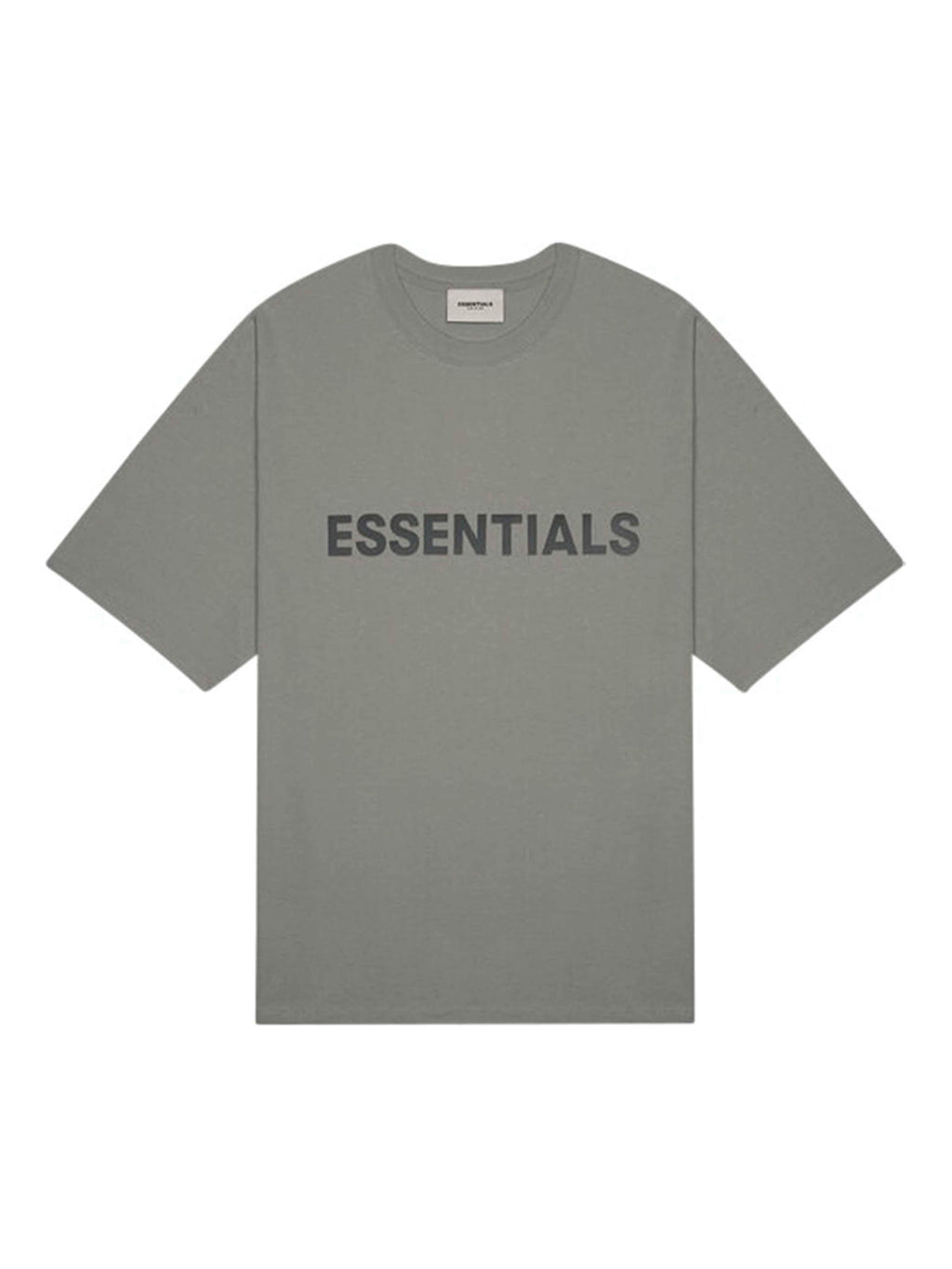 FEAR OF GOD ESSENTIALS 3D Silicon Applique Boxy T-Shirt Charcoal