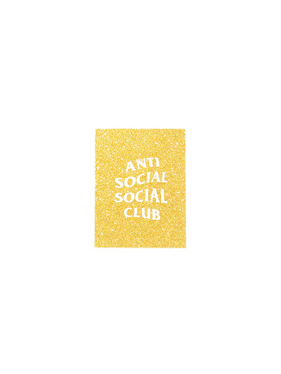 "Anti Social Social Club ""Stickyz"" Gold Glitter Sticker - Prior"