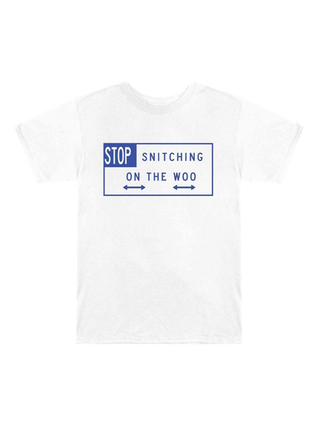 VLONE X Pop Smoke Stop Snitching T-Shirt White/Blue L - PRIOR