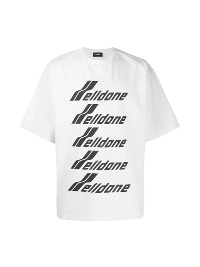 We11done Oversized Front Logo Tee White - PRIOR