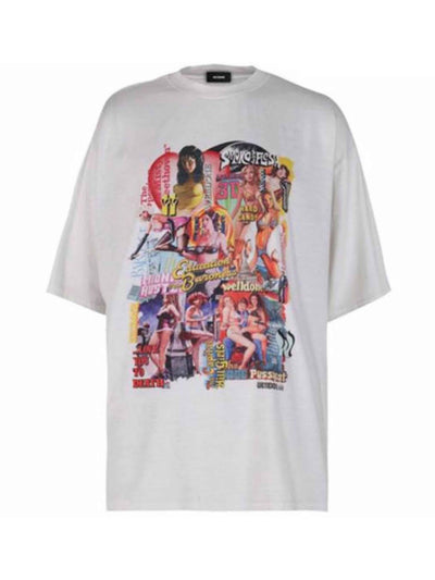 We11done Oversized Movie Collage Tee Off-White - PRIOR