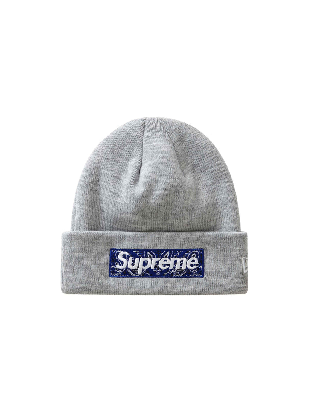 Supreme New Era Box Logo Beanie Heather Grey [FW19]