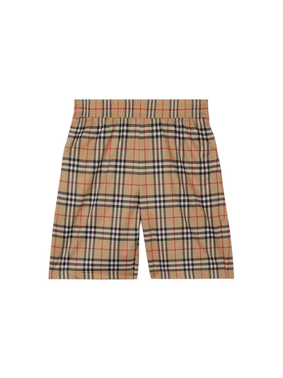 Burberry Check Print Shorts - PRIOR