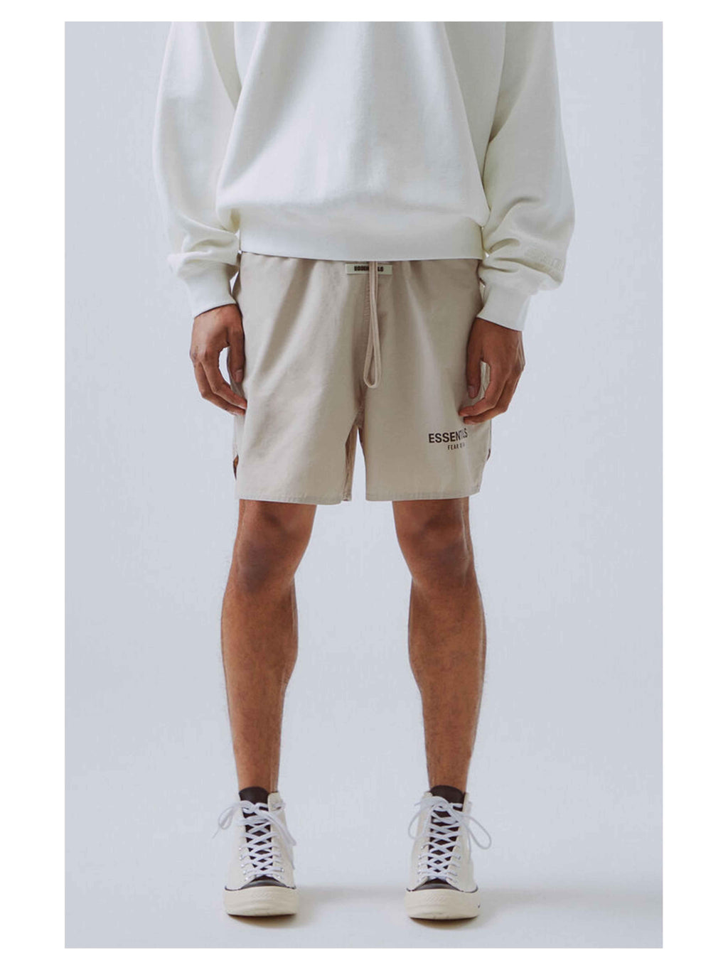 Fear Of God Essentials 3M Logo Volley Shorts Moss - PRIOR