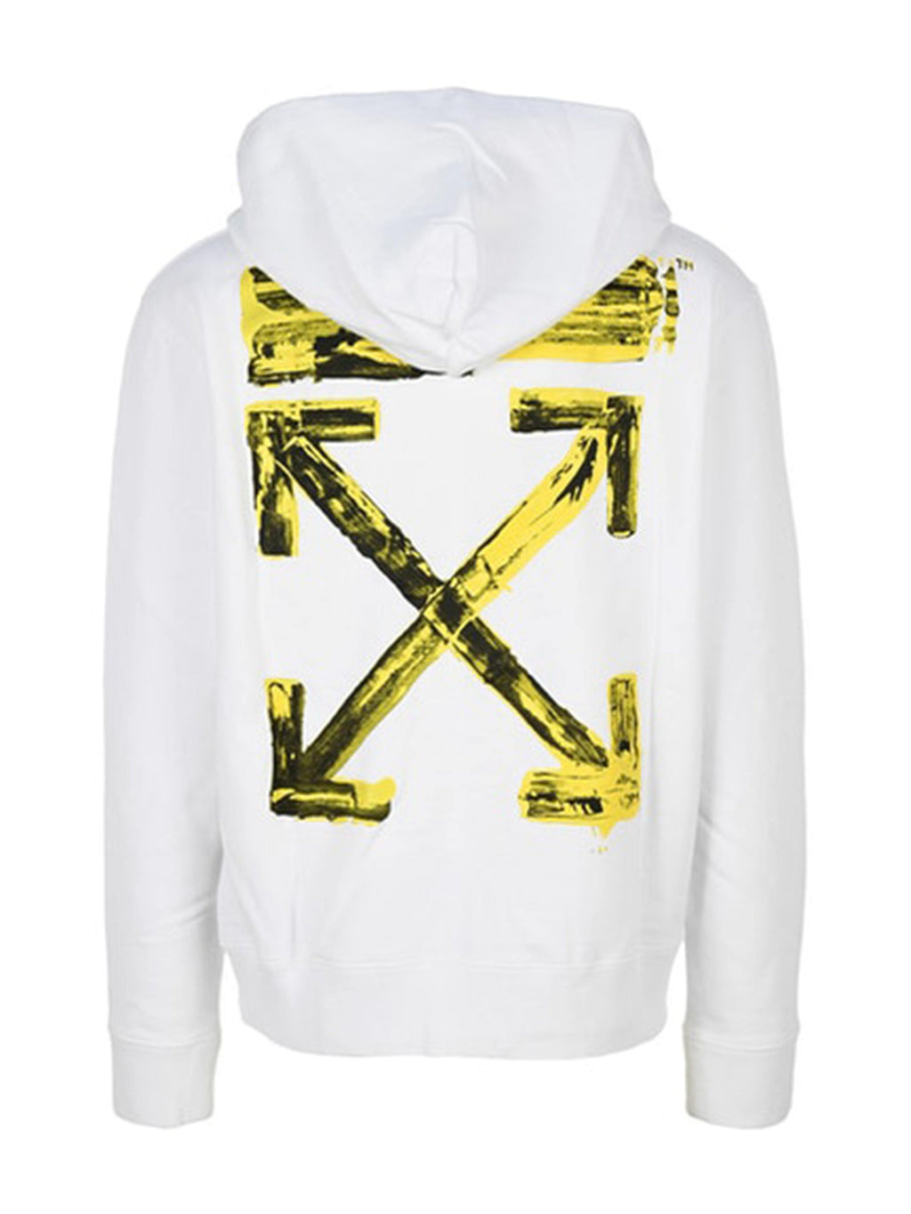 OFF-WHITE Acrylic Arrows Slim Fit Hoodie White/Yellow - PRIOR
