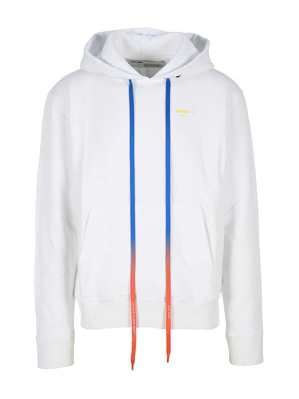 OFF-WHITE Acrylic Arrows Slim Fit Hoodie White/Yellow