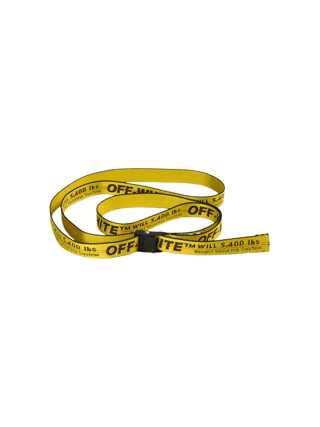 OFF-WHITE Mini Industrial Belt (SS19) Yellow/Black - PRIOR