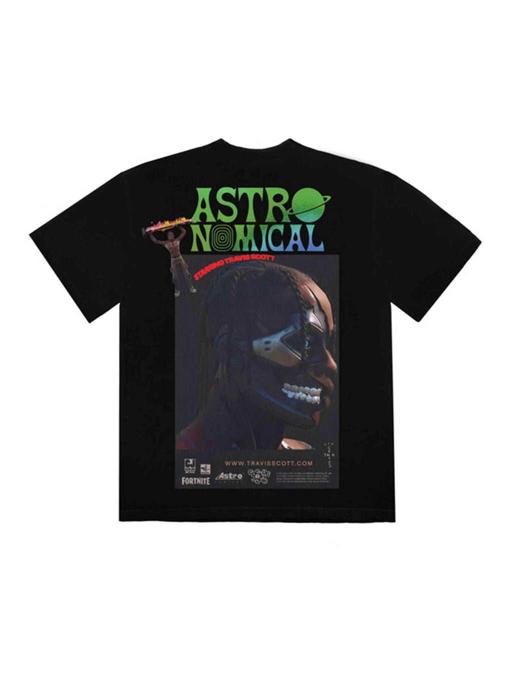 Travis Scott Astro Sicko Event 2 T-Shirt Black - PRIOR