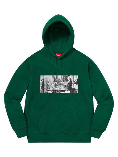 Supreme X Mike Kelley Franklin Signing Hoodie Dark Green [FW18] - PRIOR