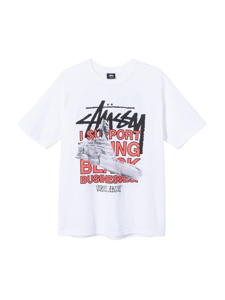 Stussy x Virgil Abloh World Tour Collection T-Shirt White - PRIOR