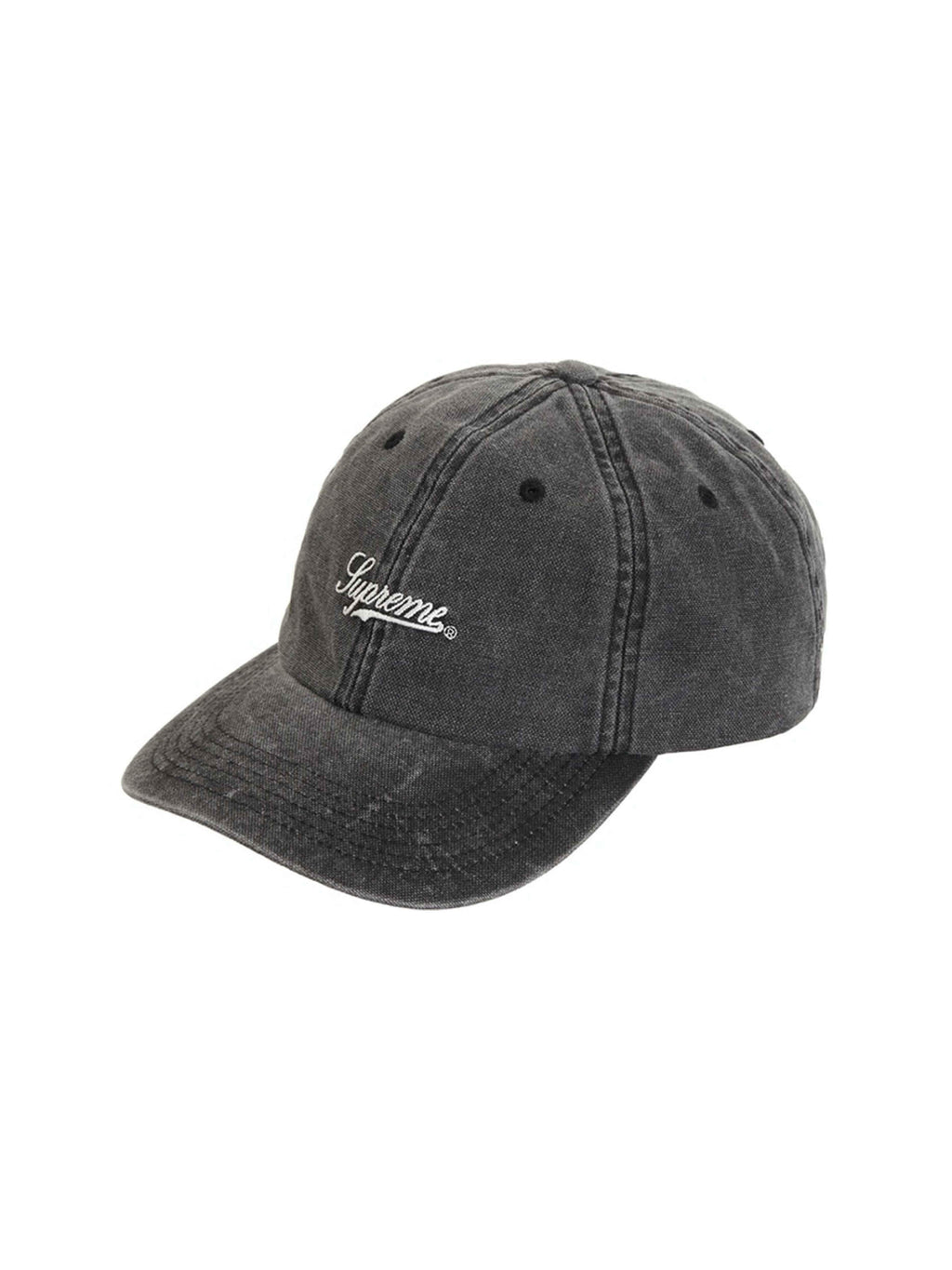 Supreme Pigment Print Script Logo 6-Panel Black - PRIOR