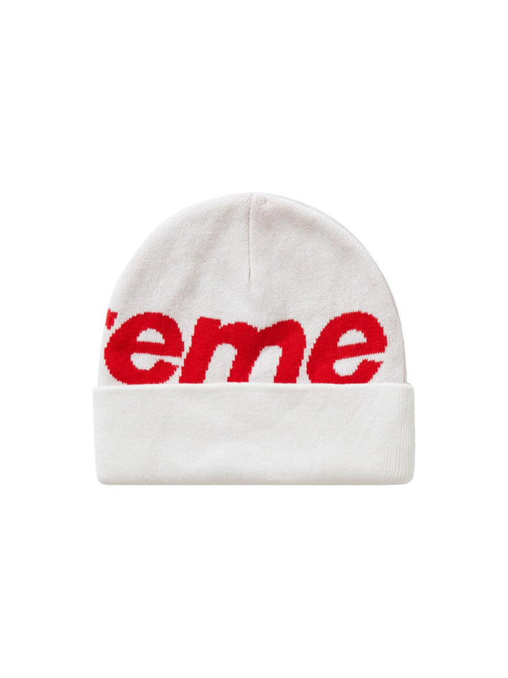 Supreme Big Logo Beanie White [FW20] - PRIOR