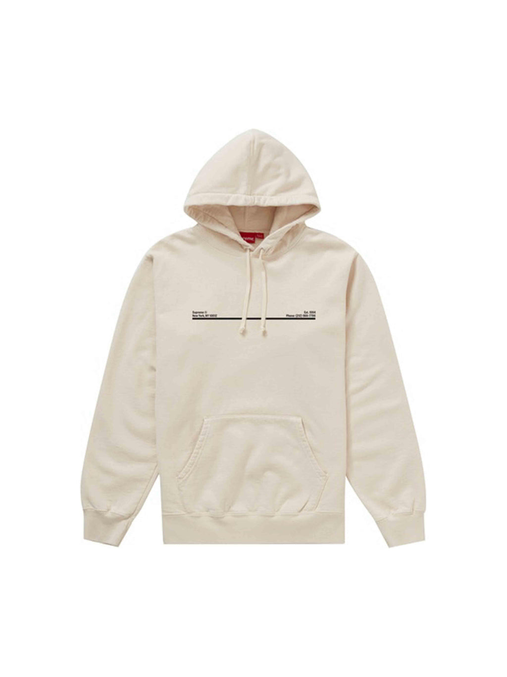 Supreme Shop Hooded Sweatshirt New York City Natural [FW20] - PRIOR