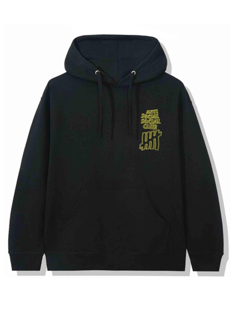 Anti Social Social Club X Undefeated Hoodie Black - PRIOR