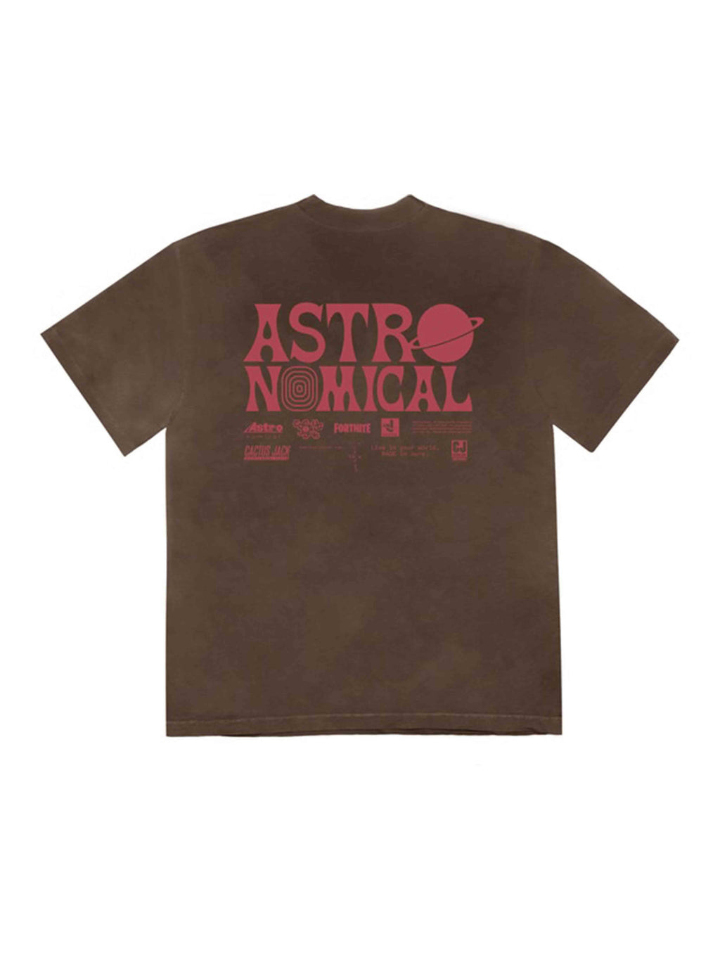 Travis Scott World Event T-Shirt Bleached Black - PRIOR