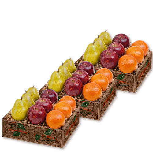 Apples, Pears, Oranges Fruit Medley Gift Boxes