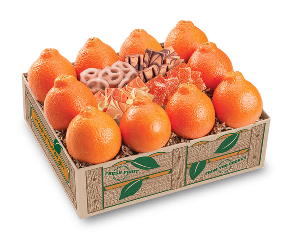 Honeybell Tangelos Gift, Oranges and Honeybell-flavored Candies - Hyatt Fruit Company Gift Baskets