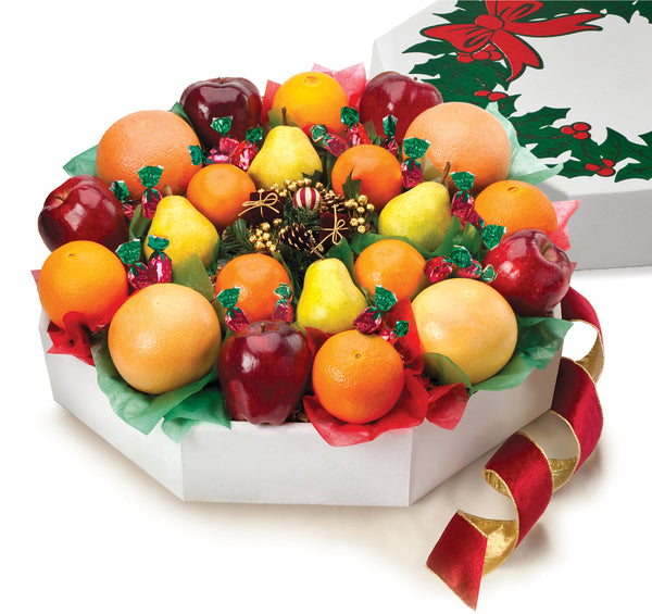 Florida Oranges, Ruby Red Grapefruit, Tangelos Christmas Wreath Gift
