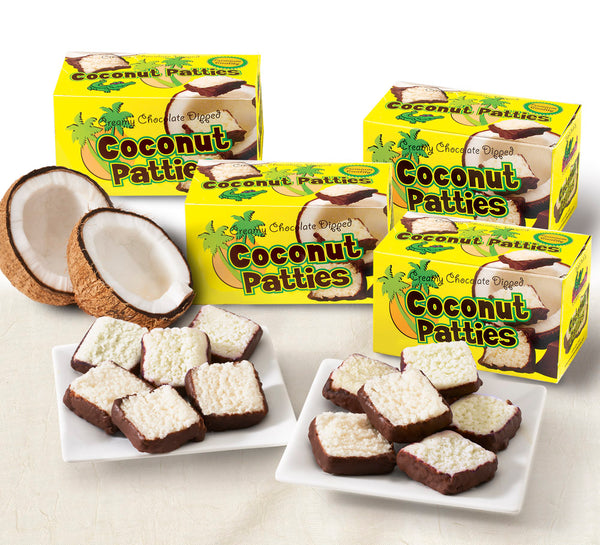 Chocolate-covered Coconut Patties