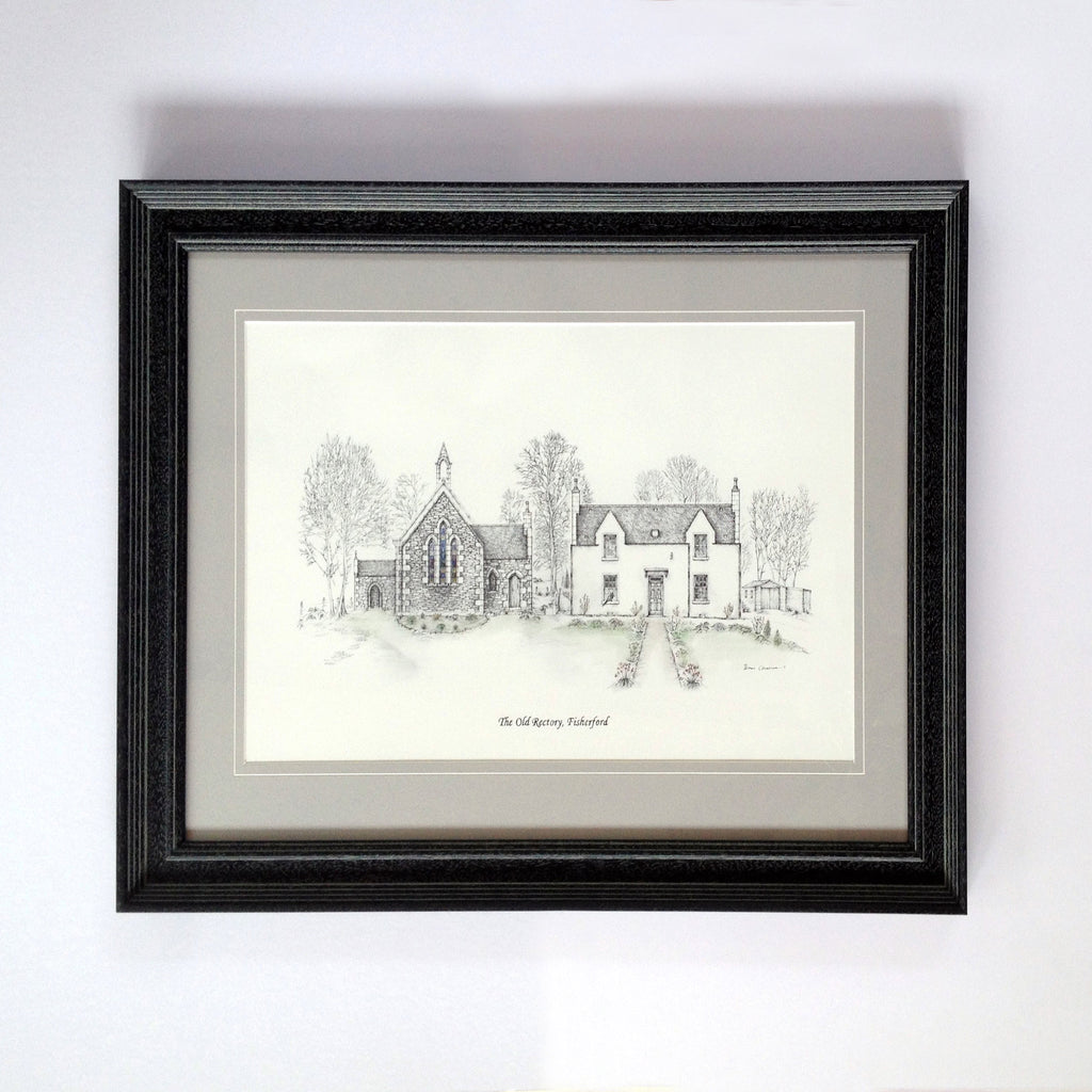 The Old Rectory of Fisherford- Bespoke Illustration