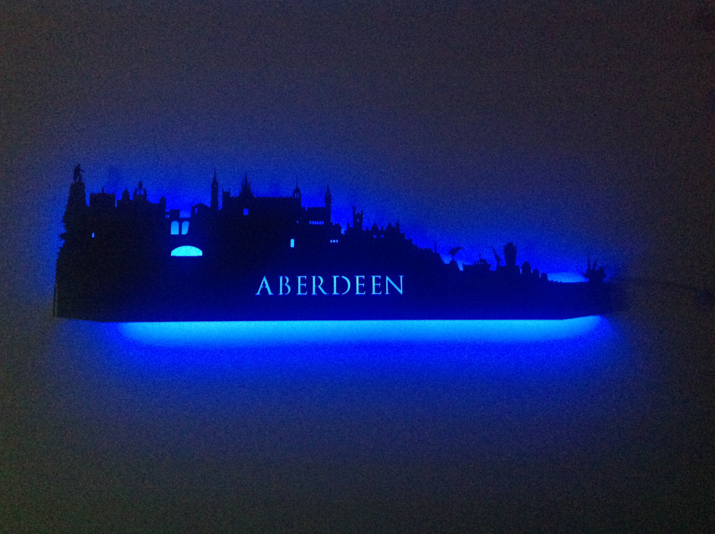 Aberdeen City Skyline - on the Client's Wall