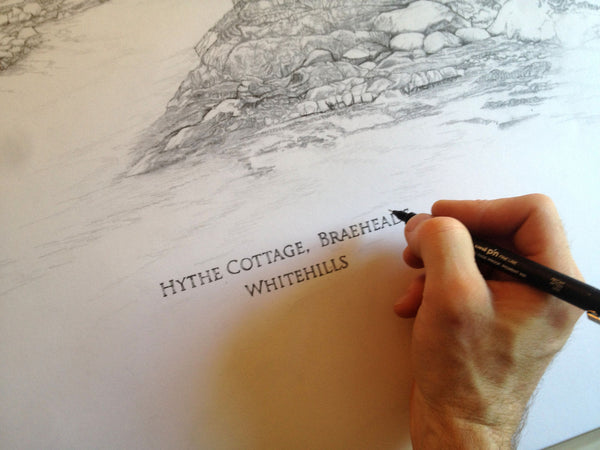 Hythe Cottage Whitehills- Jamie Cameron Illustration