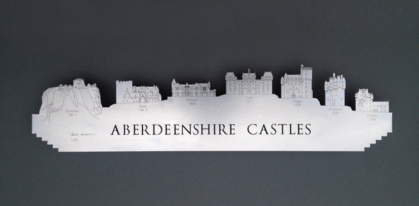 Aberdeenshire Castles - Brushed Steel