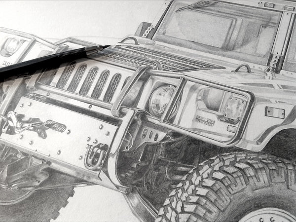 Extreme Off-roader- Hummer H1 (detailed perspective)