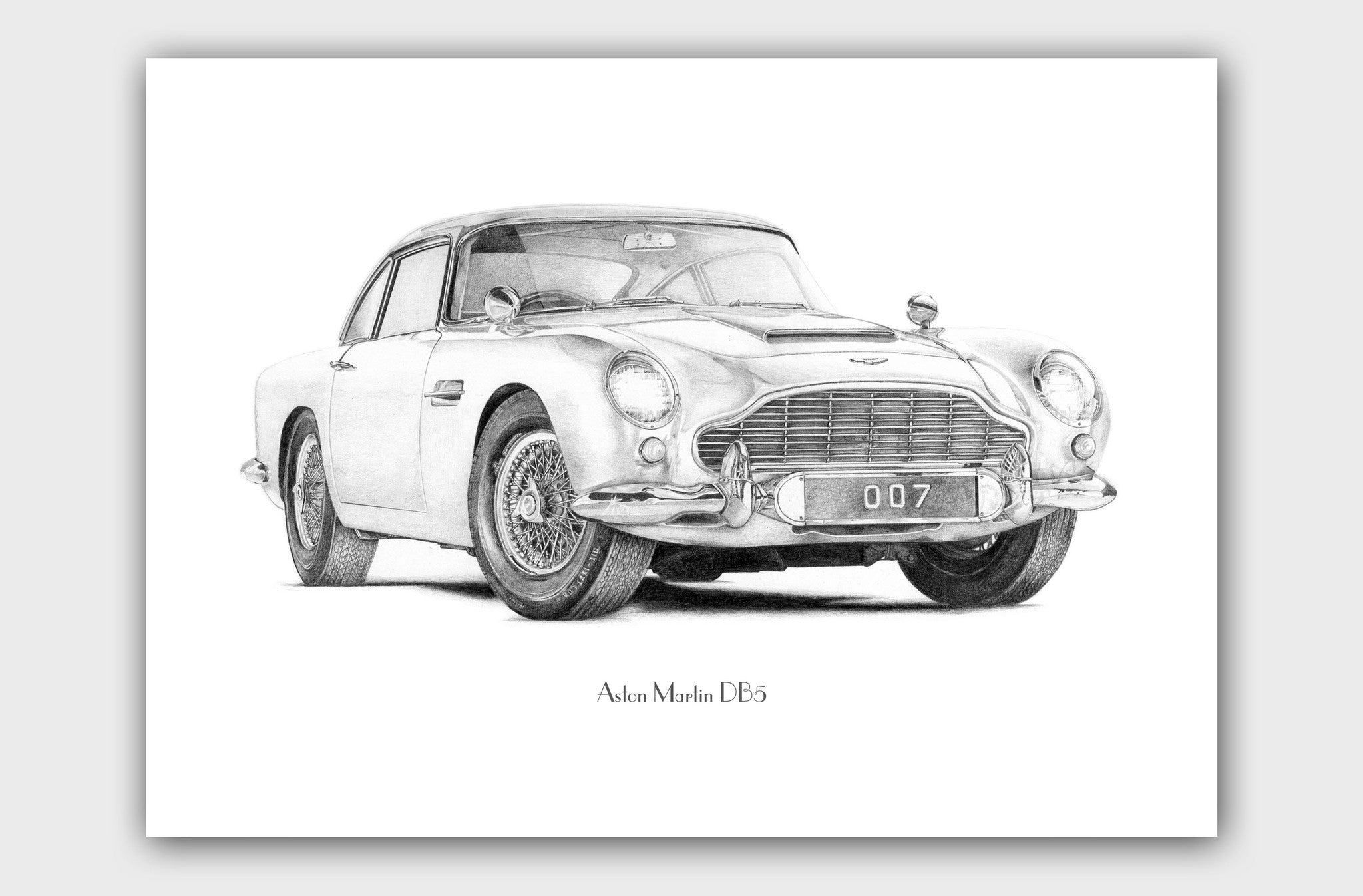 High-Class Motoring- Aston Martin DB5 (detailed perspective)