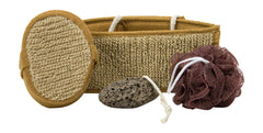 Bath Exfoliating Set In Brown Color