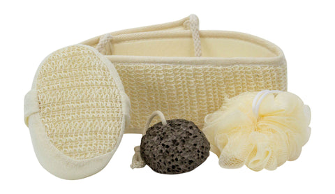 Bath Exfoliating Set Cream Color - AyaZen