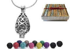 Necklace Locket Diffuser With Lava Stones - AyaZen