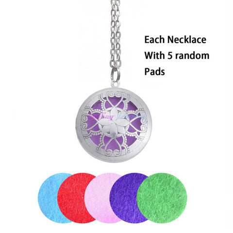 Aromatherapy Locket Essential Oil Necklace Diffuser - AyaZen